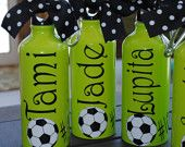Gift idea for the kids- love it!  Dollar Tree had the aluminum bottles for $1.00!