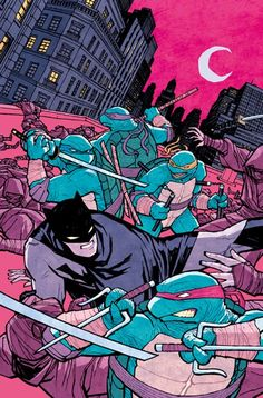 Batman/ TMNT variant cover by Cliff Chiang