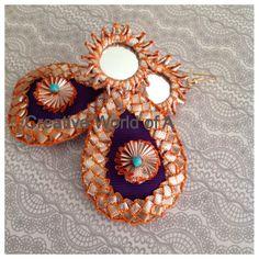 Triditional Gota earring with mirrow  www.facebook.com/creativeworldofA