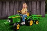 John Deere Farm Power Tractor and Trailer Battery-Powered Ride-on by Peg Perego Im thinking bday present for nathan Toy Playhouse, Peg Perego, Power Wheels, Kids Ride On, Ride On Toys, John Deere Tractors, Top Toys, Lawn Mower, Outdoor Power Equipment