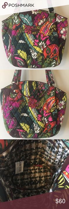 60f24a169bdd Vera Bradley Glenna Purse DILLARD s Autumn Leaves Cotton print inside  fabric. Front and back both have outside pockets. Inside has one zip pocket  and three ...