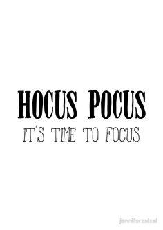 Hocus Pocus | Halloween Quote