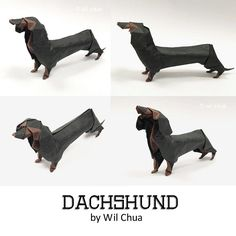 Dachshund - refold with unryushi paper. by WilChua