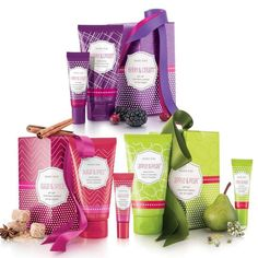 NEW! Limited-Edition† Mary Kay® Lotion & Lip Balm Gift Sets. Add a touch of softness to the season with these blissful body lotions and luscious lip balms in *Sugar & Spice™ *Berry & Cream™ *Apple & Pear™. The scrumptious duos are tantalizing delights. Makes fun stocking stuffers. Comes in festive gifting boxes for easy gift-giving †Available while supplies last. Shop online with me 24/7 | http://www.marykay.com/serranoAG/en-US/_layouts/MaryKayCoreCatalog/ProductsAndShop.aspx?dsNav=N:2000040