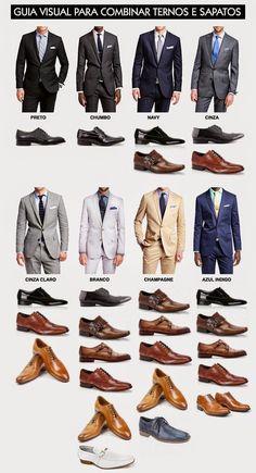 Como elegir zapatos en función del color del traje.