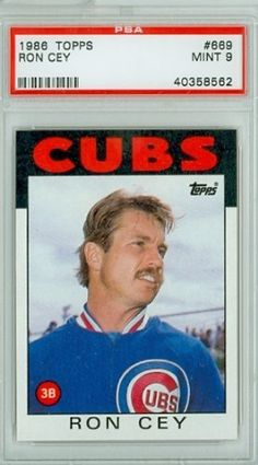 1986 Topps Baseball 669 Ron Cey Cubs PSA 9 Mint by Topps. $9.00. This vintage card featuring Ron Cey is # 669 from the 1986 Topps Baseball set Baseball Photos, Baseball Cards, Cubs Win, Go Cubs Go, Cubs Baseball, Wrigley Field, Win Or Lose, National League, Yesterday And Today