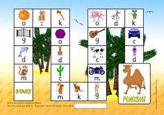 M D G O C K phonics board game