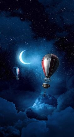 Hot air balloon at night Tumblr Wallpaper, Nature Wallpaper, Mobile Wallpaper, Beautiful Wallpaper For Phone, Space Backgrounds, Wallpaper Backgrounds, Iphone Wallpaper, Cool Wallpapers For Phones, Cute Wallpapers
