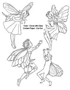 flower pixies coloring pages - photo#49