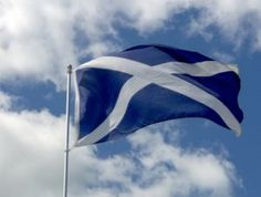 "National Flag of Scotland - The ""Saltire"" or ""Saint Andrew's Cross"" dates to the Battle of Athelstaneford in 832 AD."