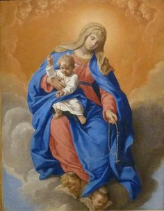 Thinking In Pictures, Jesus E Maria, Holy Rosary, Our Lady Of Rosary, Sainte Marie, Mary And Jesus, God Jesus, Hail Mary, Catholic Art