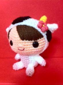 niña disfrazada amigurumi pagina japonesa. #amigurumi #toys