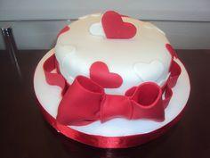 Mini bolo de corações