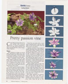 Passionflower vine tutorial