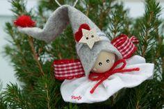 Gnome Natale / / Fairy Angel albero decorazione ornamenti / / | Etsy Diy Christmas Angel Ornaments, Christmas Decorations Sewing, Christmas Fairy, Felt Ornaments, Christmas Angels, Tree Decorations, Holiday Crafts, Navidad Diy, Snowman Crafts