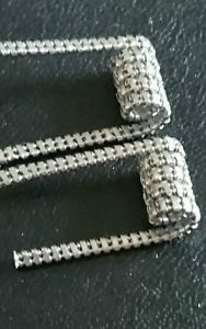 Pair of stainless steel Staggered fused Clapton coils | eBay