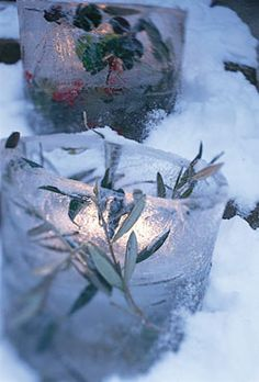 Winter Wedding Ice Lanterns