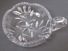 American Brilliant Cut Glass Nappy Dish With by myabbiesattic