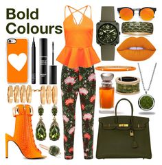 """Bold colours"" by veryangrycookie ❤ liked on Polyvore featuring Privileged, Erdem, Boohoo, LULUS, Casetify, Lime Crime, NARS Cosmetics, MAKE UP FOR EVER, Marlin Birna and Laura Mercier"