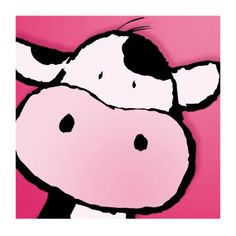 Cow Prints by Jean Paul - Art to do - Cow Wall Art, Pink Wall Art, Cow Art, Cow Drawing, Cartoon Cow, Pink Cow, Cow Painting, Kunst Poster, Cute Cows
