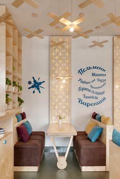 location: Chervonoarmіyska st., 74, Kiev, Ukraine function: cafe, fast food area: 100m2 status: realization 2015 designers: Aleksandr Yudin, Vladimir Yudin graphic designer: Vladimir Yudin photo: Sergey Savchenko