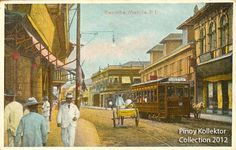 Pinoy Kollektor: Philippine TRAMVIAS (Street Cable Cars) in Postcards. Pinoy's first modern transportation Filipino Architecture, Philippine Architecture, Manila, Intramuros, Philippines Culture, Filipiniana, Cable, Pinoy, Old Photos