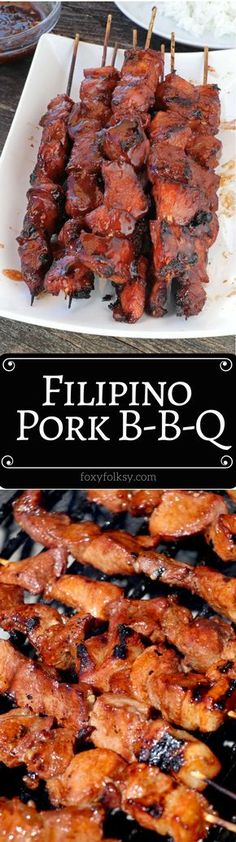 Try this Filipino BBQ on Skewers. A perfect combination of sweet, salty, and sticky! | www.foxyfolksy.com