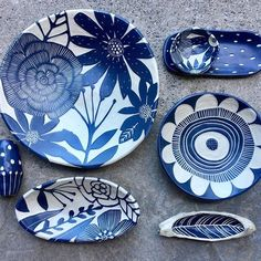 These are heading to Portland this weekend for Crafty Wonderland. Hope you can swing by! Stoneware Clay, Ceramic Clay, Ceramic Plates, Ceramic Pottery, Pottery Art, Pottery Painting, Ceramic Painting, Hand Built Pottery, Pottery Techniques