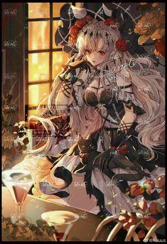 Gothic Fantasy Art, Anime Art Fantasy, Gothic Anime, Anime Angel Girl, Manga Anime Girl, Dark Anime Guys, Cute Anime Guys, Cute Anime Character, Character Art