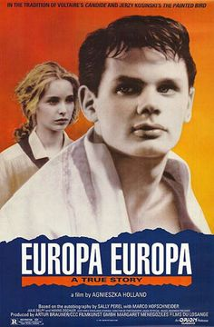 """Europa Europa (1990) Original title """"Hitlerjunge Salomon"""". Directed by Agnieszka Holland, starring Solomon Perel, Marco Hofschneider and René Hofschneider. Based on the 1989 autobiography of Solomon Perel, a German Jewish boy who escaped the Holocaust by masquerading not just as a non-Jew, but as an elite """"Aryan"""" German."""