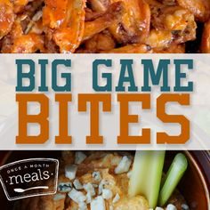 Big Game Bites - Once a Month Meals #gameday #superbowl #appetizers #soup #chili #slowcooker
