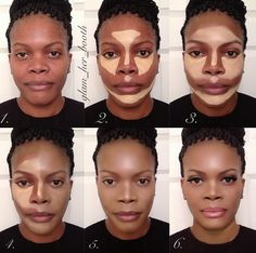contouring for African American woman Fav #makeup #ohmyglamm visit www.ohmyglamm.com