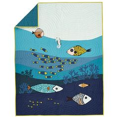 Kids Bedding: Ocean Life Bedding Set | The Land of Nod