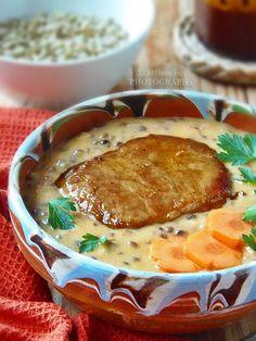 Az otthon ízei: Villámgyors mézes-mustáros lencsefőzelék Cheeseburger Chowder, Soup, Yummy Food, Delicious Food, Soups