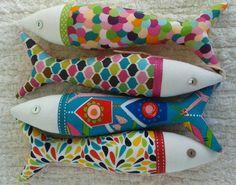 Handmade traditional Portuguese sardines in fun, contemporary fabrics.