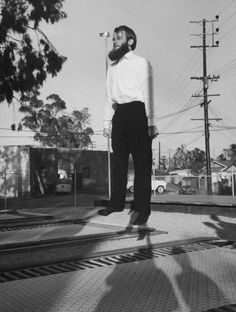 Flying on a trampoline in California, 1960
