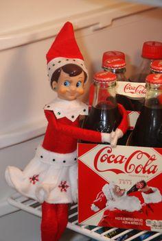 The Elf on the Shelf : who wants a coke?