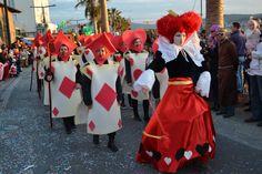 Na Istrski karneval je prispela tudi kraljica kart iz Alice v čudežni deželi. // Istrian carnival also visite the queen of cards #AliceInWonderland.