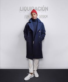 Navy Coat, Normcore, Style, Fashion, Swag, Moda, Fashion Styles, Fashion Illustrations, Outfits