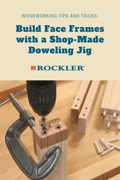 A little scrap and a couple of bushings are all it takes. Let us help you create with confidence here! #CreateWithConfidence #FaceFrame #ShopMade #HandmadeJig #Dowels Woodworking Jigs, Woodworking Projects, Dowel Jig, Rip Cut, Drill Press Table, Pocket Screws, Face Framing, Helpful Hints, Confidence