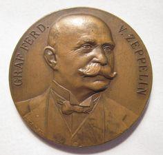 1909 International Airship Exposition Zeppelin Frankfurt City View Medal 37 | eBay