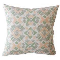 "Corrigan Studio Carla Geometric Down Filled 100% Cotton Throw Pillow Size: 24"" x 24"""