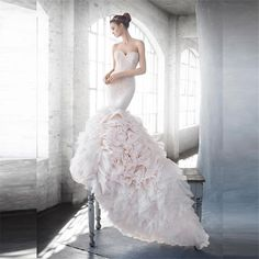 >> Click to Buy << Off the shoulder 2016 New Sweetheart Pink Lace Tulle Mermaid Wedding Dress Bridal Gowns vestido de noiva robe de mariage Custom #Affiliate