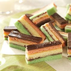 Rainbow Cookies Recipe from Taste of Home -- shared by Ann Lee of Clifton Park, New York