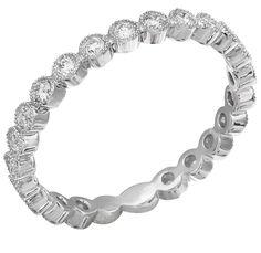 Diamond Ring, .40 Carat Diamonds on 14K White Gold