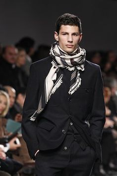 Image result for men's scarf styles