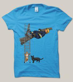 Cats rescuing a fireman, ftw. #jim'llpaintit
