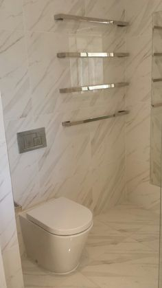 Beautiful In Wall Cistern and Heated Towel Ladders