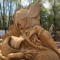 Community about Norse Mythology, Asatrú and Vikings. Snow Sculptures, Sculpture Art, Ice Art, Snow Art, Grain Of Sand, Viking Warrior, Sand And Water, Art Carved, Land Art