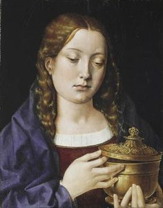 Catharine of Aragon as the Magdalene, painted before she left for England to be the wife of Arthur Tudor, Prince of Wales.